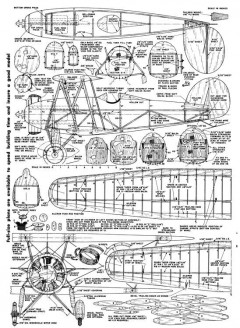 Waco Taperwing-Air Trails-11-53 model airplane plan