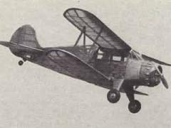 Waco YKC-S model airplane plan