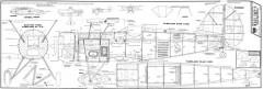Waco YMF-3 model airplane plan