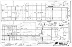Waco YMF 3 model airplane plan