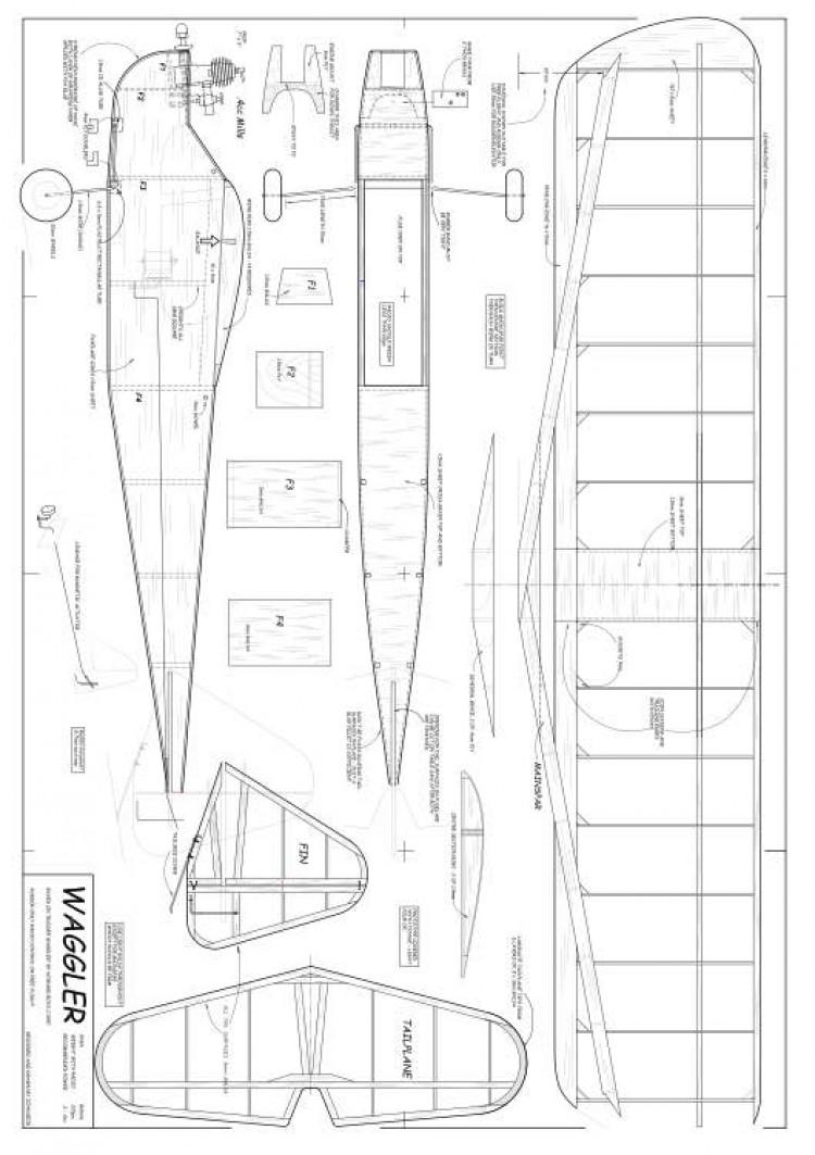 Waggler model airplane plan