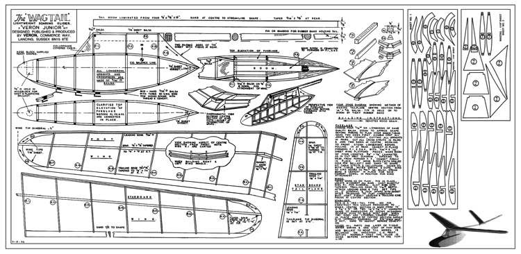 Wagtail model airplane plan