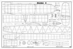 Wakefield Ellila II model airplane plan