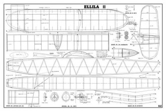 Wakefield Ellila II model airplane plan