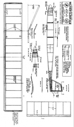 Walthew Glider MkII model airplane plan
