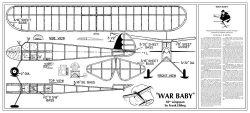 War Baby 50in Frank Ehling MAN 1945 model airplane plan