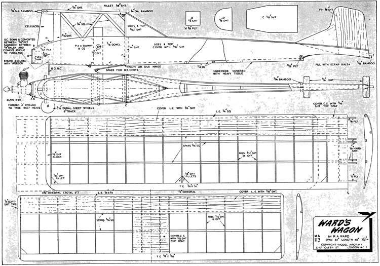 WardsWagon model airplane plan