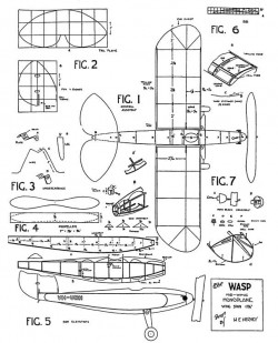 Wasp 17in model airplane plan