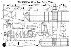 Wasp 40in model airplane plan