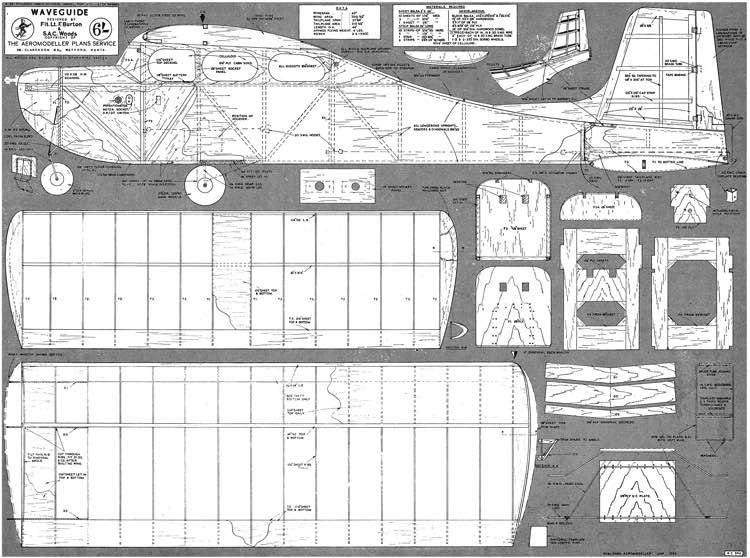 Waveguide model airplane plan