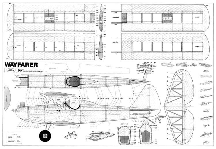 Wayfarer model airplane plan