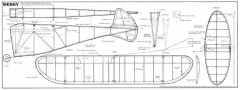 Wedgy half model airplane plan