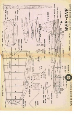 Wee One model airplane plan