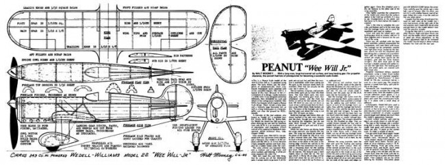 Wee-Will-Jr-1 model airplane plan