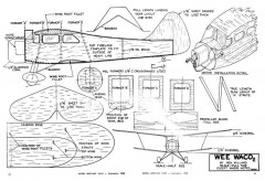 WeeWaco model airplane plan
