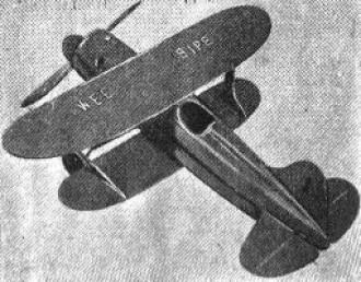 Wee Bipe model airplane plan