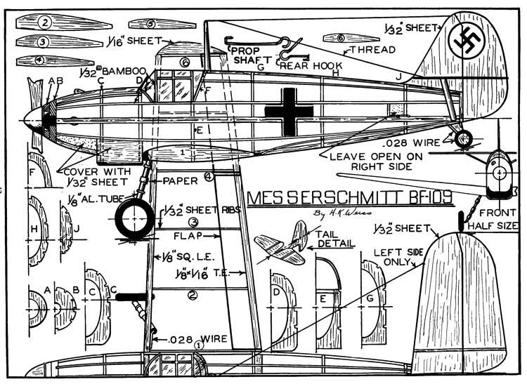 Weiss 109 p1 model airplane plan