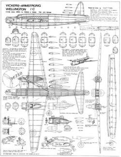 Wellington model airplane plan