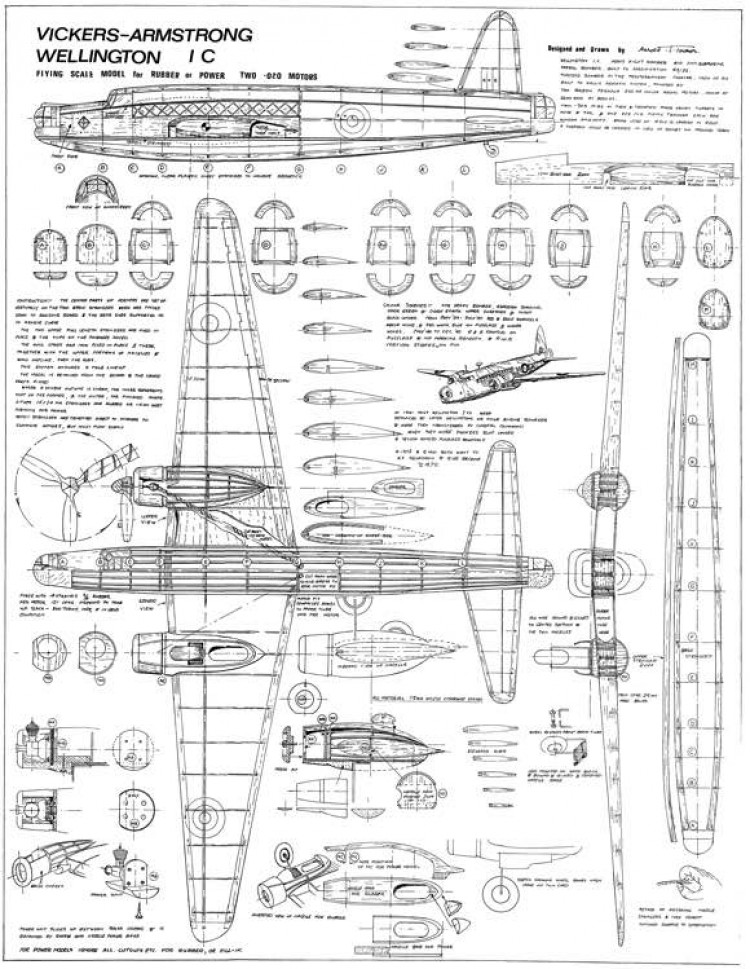 Wellington model airplane plan