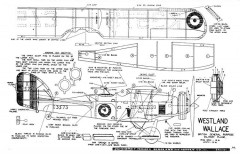 Westland Wallace model airplane plan