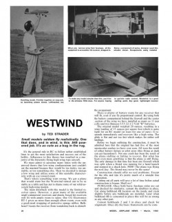 Westwind 38in model airplane plan