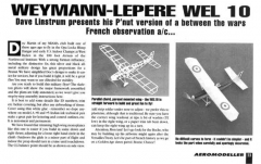 Weymann Lepere WEL 10 model airplane plan