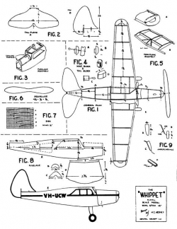 Whippet 14in model airplane plan