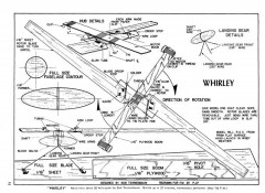 Whirly model airplane plan