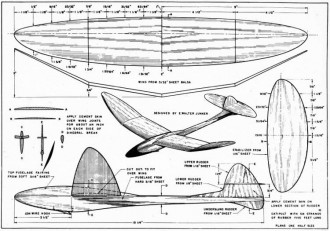 Whirly FM-1947-08 model airplane plan