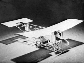 White Monoplane model airplane plan