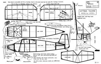 Whittman Tailwind-Janick model airplane plan