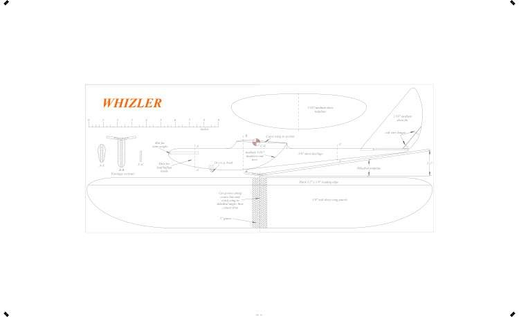 Whizler model airplane plan