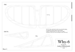 Why-6 model airplane plan