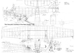 Wibault-Penoet Trimotor model airplane plan
