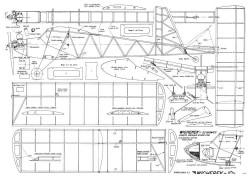 Wicherek 10 plan model airplane plan