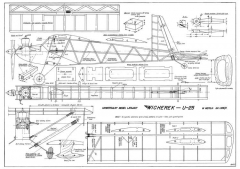 Wicherek U-25 model airplane plan