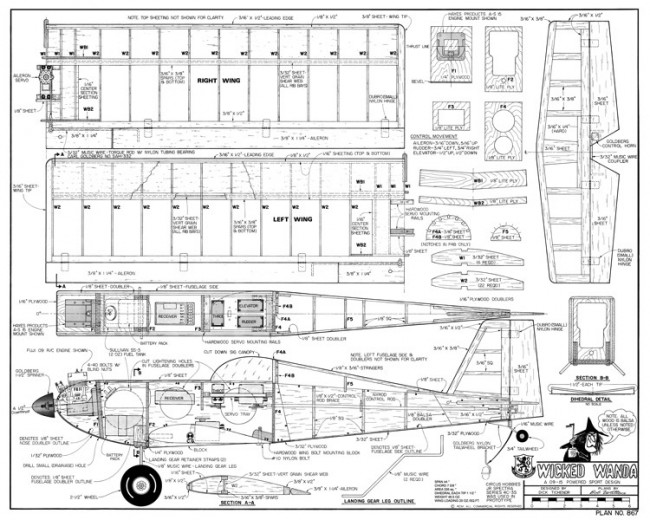 Wicked Wanda-RCM-06-82 867 model airplane plan