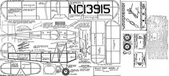 Wiley Post Model A model airplane plan