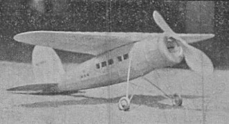 Wiley Post model airplane plan