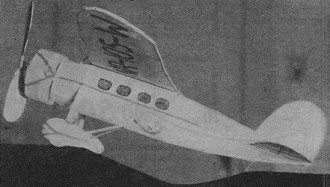 Winnie Mae model airplane plan