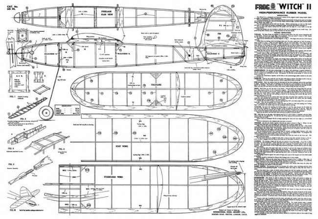 Witch II model airplane plan