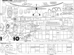 Wog Megow 60in model airplane plan