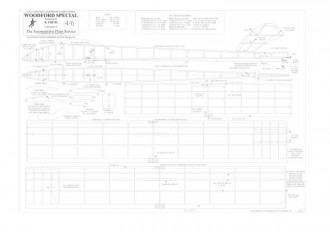 Woodford Special BW Print model airplane plan