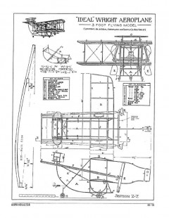 Wright Aeroplane model airplane plan
