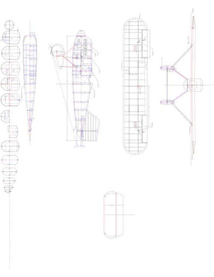 Wright Model 1 model airplane plan