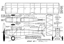 Wright WP-1 model airplane plan