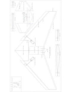 X29WING Model 1 model airplane plan