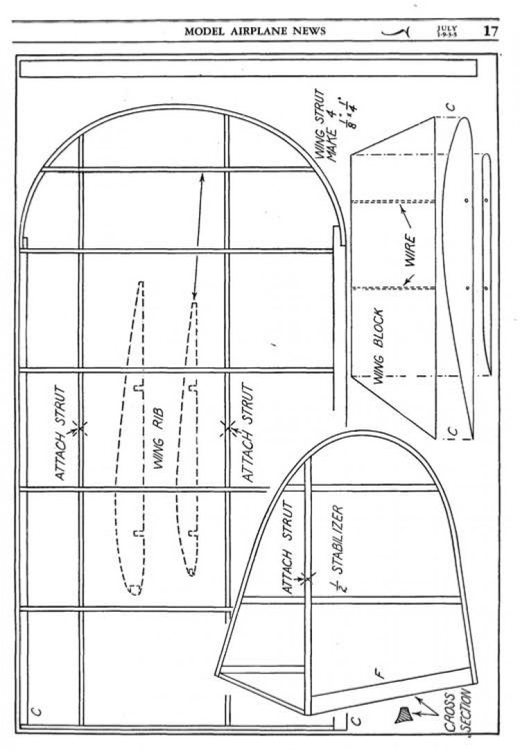 XF13C-1 4 model airplane plan