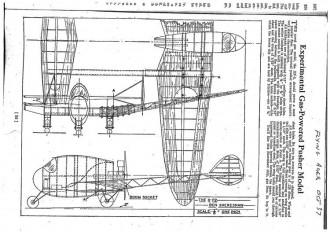 XP-2 Plan model airplane plan
