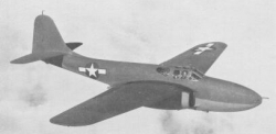 XP-59 Airacomet model airplane plan